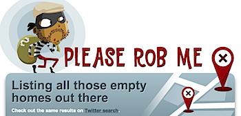 位置情報から不在の家をリストアップする「Please Rob Me」