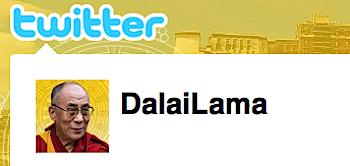 ダライ・ラマ、ツイッターを始める
