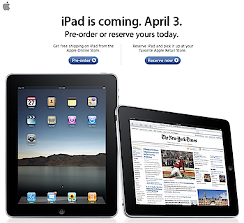 iPad is coming. April 3.