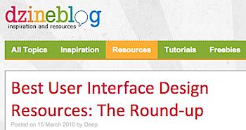 ユーザインターフェースデザインのための情報源
