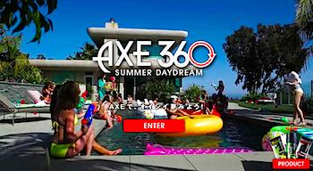 360度全方位を女性に囲まれるコンテンツ「AXE 360 Summer Daydream」