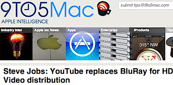 スティーブ・ジョブズ「HDビデオの共有にはブルーレイではなくYouTubeがある」