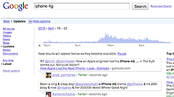 Google、ツイッターの過去のつぶやきを検索可能に