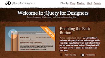 ウェブデザイナーのためのjQuery集「jQuery for Designers」