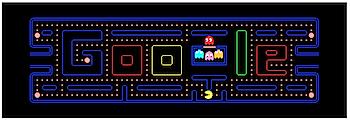 Googleロゴ、実際にプレイできる「パックマン30周年」に!