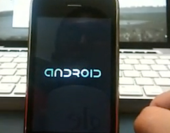 「iPhone 3G」Android OSとiPhone OSをダブルブートしている動画