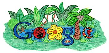 子供が描くGoogleロゴ「Doodle 4 Google」(2010)