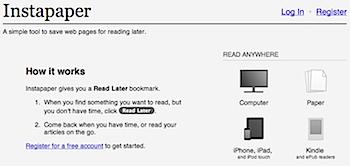 ウェブを保存して後で読む「Instapaper」のある快適生活の始め方(PC/iPhone/iPad連携)