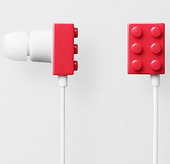レゴっぽいカナル式ヘッドフォン「PLAYBRICK」