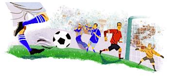 Googleロゴ「FIFA ワールドカップ」に