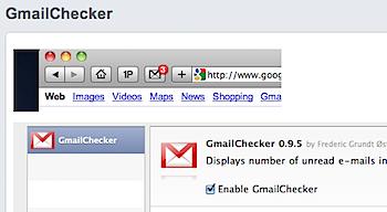 ツールバーにGmailの未読を表示するSafari機能拡張「GmailChecker」