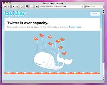 ツイッターが困ったことになった時に出てくるクジラを可愛らしく動かして和むSafari機能拡張「Release The Fail Whale」
