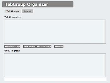 開いているタブを保存し後からまとめて開くことができるSafari機能拡張「TabGroups Organizer」