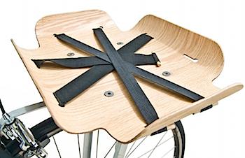 スタイリッシュな自転車の前カゴ「bent basket」