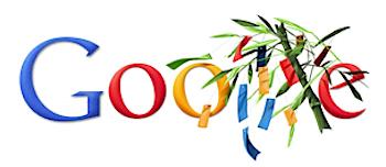 Googleロゴ「七夕」に