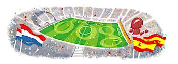 Googleロゴ「2010 FIFA ワールドカップ ファイナル」に