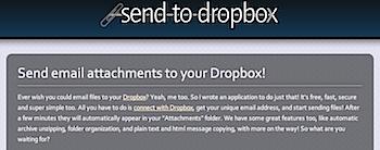 メール添付でDropBoxにファイルを送信する「send to dropbox」