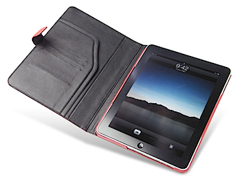 横置きスタンドにもなる「Noreve Perpetual Selection レザーケース for iPad」