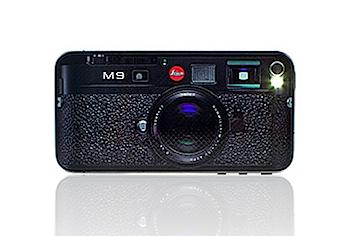 「iPhone 4」を「Leica M9」風にするステッカー