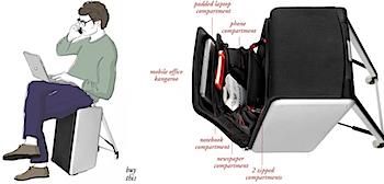 座れるスーツケース「Trip」
