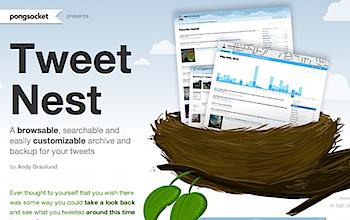 ツイートを可視化/検索/バックアップできる「Tweet Nest」