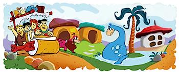 Googleロゴ「フリントストーン」に