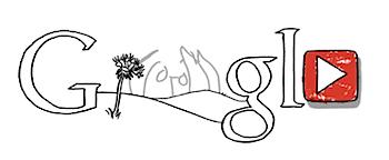Googleロゴ「ジョン レノン」に