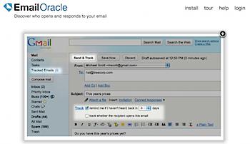 相手がメールを読んだかどうか確認できるGmailプラグイン「EmailOracle」