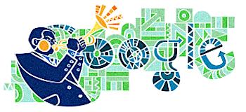 Googleロゴ「ディジー ガレスピー」に