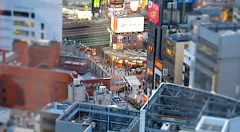 キヤノン「PowerShot  S95」で撮影したミニチュア風動画
