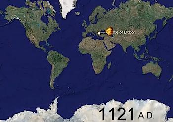 戦争の歴史を世界地図に視覚化した動画