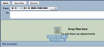 <del>「Gmail」</del>「Google Docs」添付ファイルのドラッグ&ドロップが可能に
