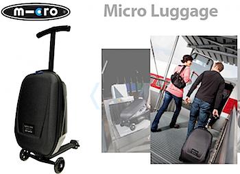 """キックボード x サムソナイト""""乗れるスーツケース""""「マイクロ・ラゲッジ」日本で販売開始"""