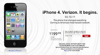 「iPhone 4」CDMAサポート、Verizonで提供へ