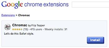 """""""⌘+数字""""でブックマークバーのサイトを表示することができるGoogle Chrome機能拡張「Chromac」"""