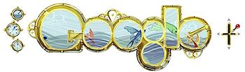 Googleロゴ、操作ができる「ジュール ヴェルヌ」に