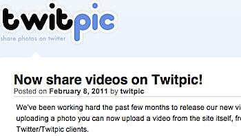 写真共有サービス「TwicPic」動画にも対応