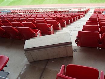 カシマサッカースタジアム、地震の影響で被害 → 2試合開催不可能に