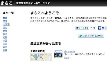 「まちこ」ツイッターIDでログインする市町村区ごとの街の掲示板
