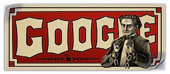 Googleロゴ「Harry Houdini(ハリー・フーディーニ)」に