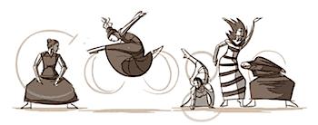 Googleロゴ「マーサ グレアム」に