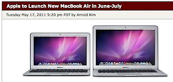 新しい「MacBook Air」は6月〜7月にリリースか