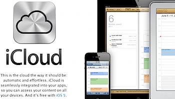 「iCloud」Appleによる無料のクラウドサービス