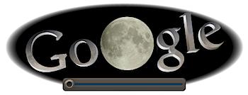 Googleロゴ「皆既月食」に