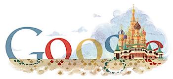 Googleロゴ「聖ワシリイ大聖堂」に