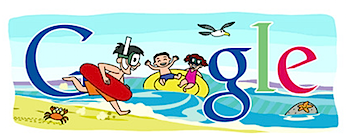 Googleロゴ「海の日」に