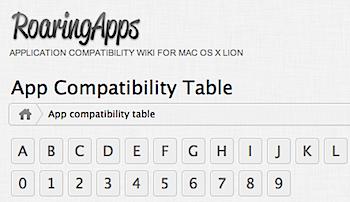 Mac OS X Lionとアプリケーションソフトの互換性が分かる「App Compatibility Table」
