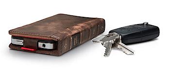 古びた洋書のようなiPhoneケース「BookBook for iPhone 4」