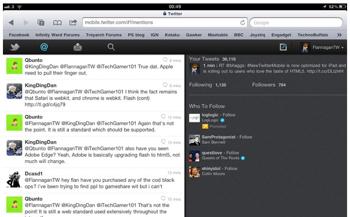 ツイッター、iPad用HTML5ウェブアプリをリリース