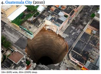 世界に開いた10の穴の写真